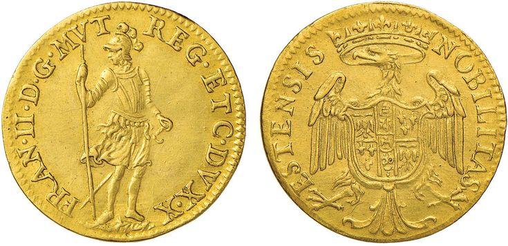 NumisBids: Nomisma Spa Auction 50, Lot 147 : MODENA Francesco II (1674-1694) Ongaro – MIR 819 AU (g 3,48) RRR ...
