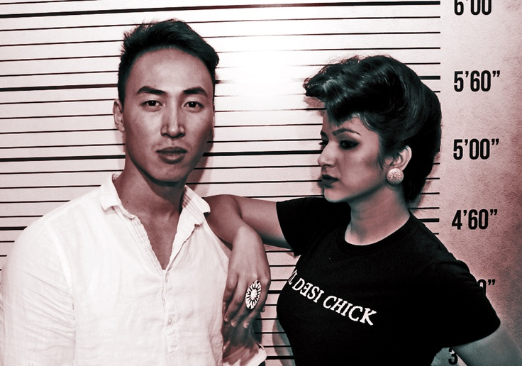 Hair stylist John from Fiorio Beauty Academy with our Evil Desi Chick model Kali. Love the style!