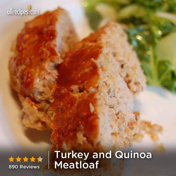 "Turkey and Quinoa Meatloaf | ""MY kids can't get enough of this meatloaf. I have made it 4 times already. The Turkey and the quinoa make for lighter and fluffier texture than a traditional meatloaf."""