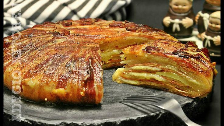 Cartofi la cuptor inveliti in bacon cu sunca si cascaval
