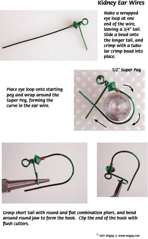 cool Free WigJig Designs   Ear Wire Designs made with WigJig jewelry making tools and...