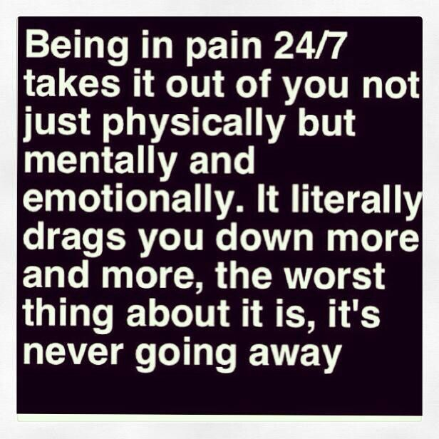 ... hope that someday it goes away! Life with Chronic Pain