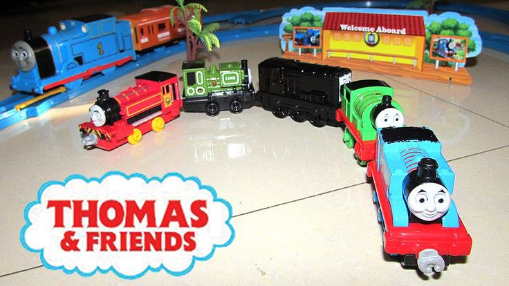 THOMAS & FRIENDS Trackmaster Trains Unboxing Thomas Toys Tracks Percy Victor Diesel Luke by JeannetChannel