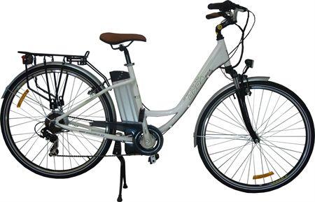#Bicicleta #electrica de paseo.  Bicicleta eléctrica modelo ONDA INFINITY puede utilizarse como bicicleta de carretera, ciudad e incluso como bicicleta mtb, es por lo tanto un modelo versátil y práctico  con un comportamiento noble en cualquier tipo de situación o trayecto.  La posición de la batería, con una menor distancia entre ejes y un reparto de pesos más equilibrado la convierten en una bicicleta ideal para todo tipo de terrenos.