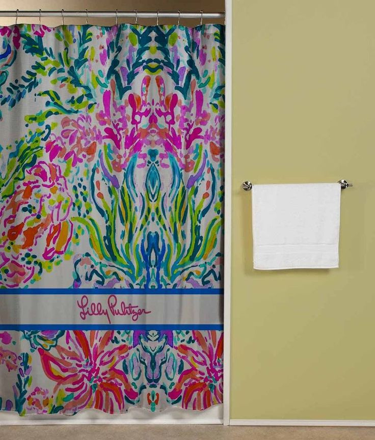 "Lilly Pulitzer Colorful Coral Beach Shower Curtain 60""x72"" Print On #Unbranded #Modern"