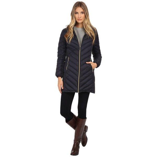MICHAEL Michael Kors 3/4 Chevron Packable Women's Coat ...