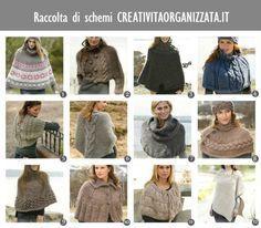 raccolta schemi in italiano per poncho e scaldacollo a maglia