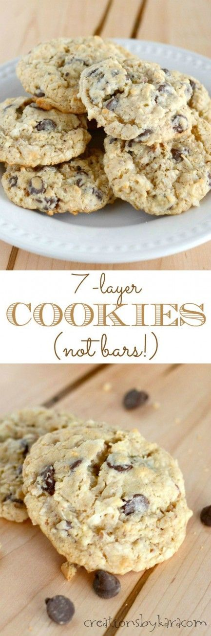 Love seven layer bars? You have to try these 7-layer cookies!