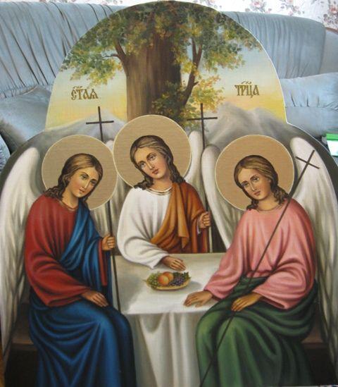 Святая Троица (холст,масло) - художник Ядвига Сенько