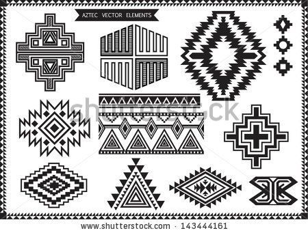 Aztec vector elements set by Emre Tarimcioglu, via Shutterstock