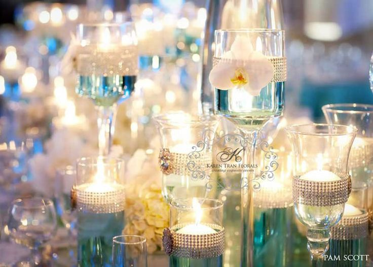 turquoise wedding table setting