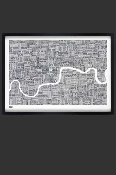 London Word Map