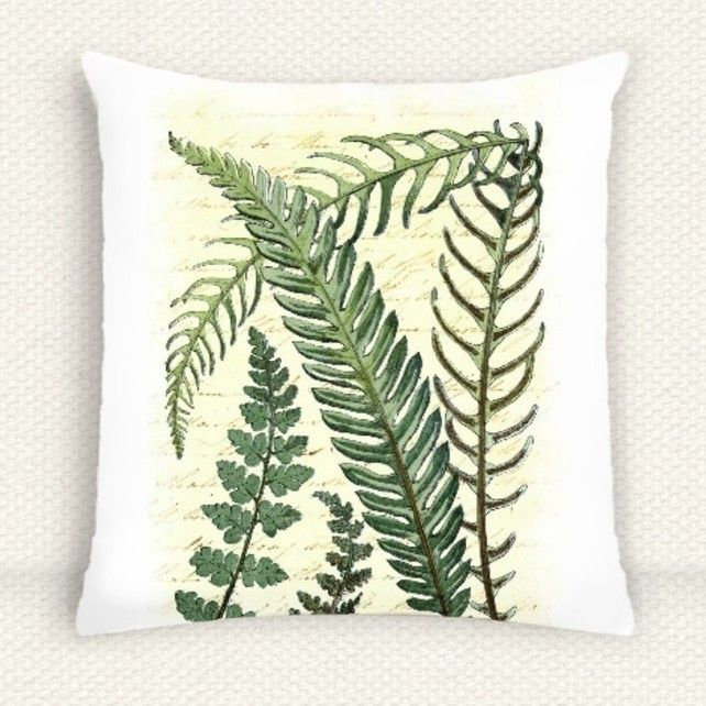Vintage Botanical Fern Cushion Cover £9.99