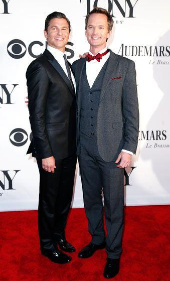 Neil Patrick Harris and David Burtka at the 2013 Tony Awards