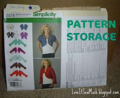 Love It Sew Much!: PATTERN STORAGE
