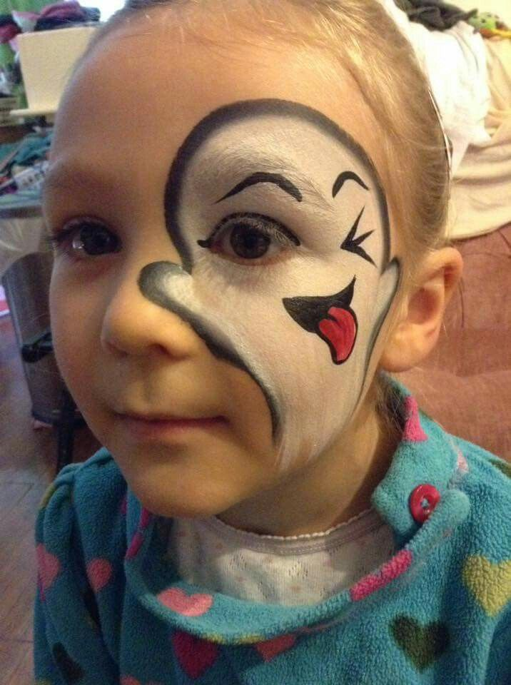 Scary doll halloween face paint