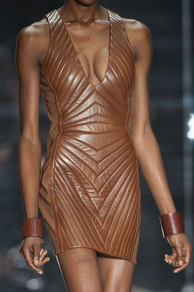 Tom Ford | Spring/Summer 2014 -  nude leather dress... Yes please!