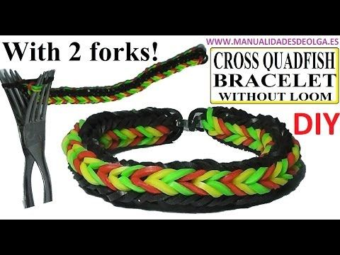 how to make rubber band bracelets with a fork
