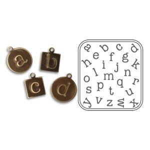 Sizzix DecoEmboss Die - Lowercase Typewriter $9.99: Lowercase Typewriter, Jewelry Making, Jewelry Crafts, Ideas Jewelry Sizzix, Jewelry Ideas, Bead Crafts, 9 99