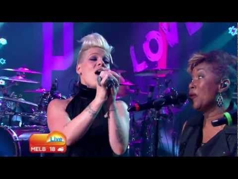 ▶ P!nk - True Love (Live 'The Today Show Australia') (HD 720p) - YouTube  This is so us! lol
