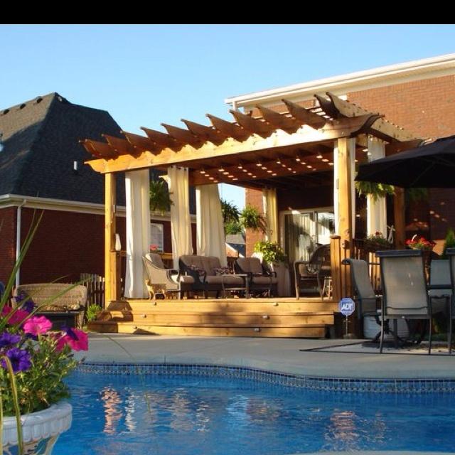 Luxury Pool House Designs: Pergola By Pool....