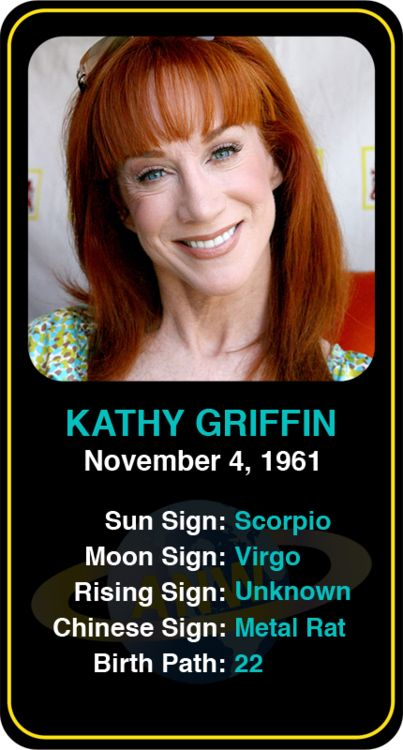 Celeb #Scorpio birthdays: Kathy Griffin's astrology info! Sign up here to see more: https://www.astroconnects.com/galleries/celeb-birthday-gallery/scorpio?start=60  #astrology #horoscope #zodiac #birthchart #kathygriffin