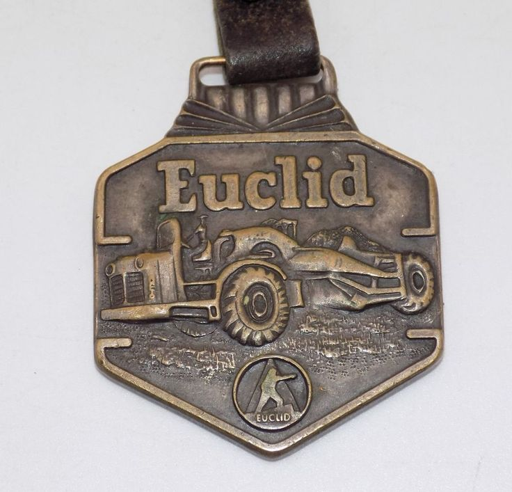Euclid Earth Moving Equipment Watch Fob Double Sided #Euclid