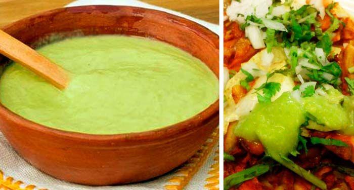 SalsaTipoGuacamole Receta: Salsa Verde Taquera tipo Guacamole