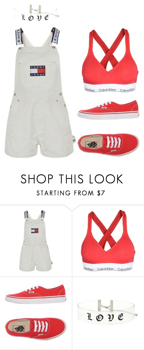 """90s Summer Meets 2017"" by daynabyday on Polyvore featuring Tommy Hilfiger, Calvin Klein Underwear, Vans and Forever 21"