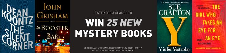 *HOT* Win 25 of the hottest new mystery novels. ($700 value) Quick one time email only entry.   ENTER HERE>> http://www.freebiequeen13.net/penguin-random-house-fall-mystery-sweeps.html