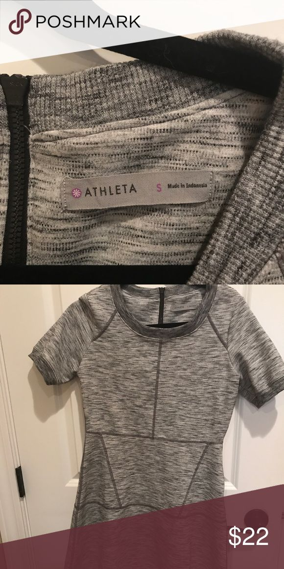 Small Athleta dress Grey Extremely comfortable small can fit Med Athleta dress. Great for casual or going out shopping! Worn very little just cleaning out my closet! Athleta Dresses Midi