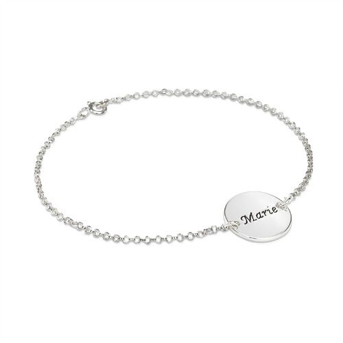 Personalized Bracelet with Engraved Disc #beyoubeunique