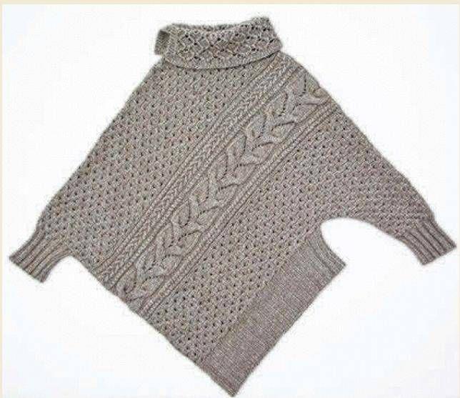 Suéter asimétrico de Vogue Knitting 2013.