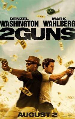 2 Guns movie poster | Mark Wahlberg and Denzel Washington