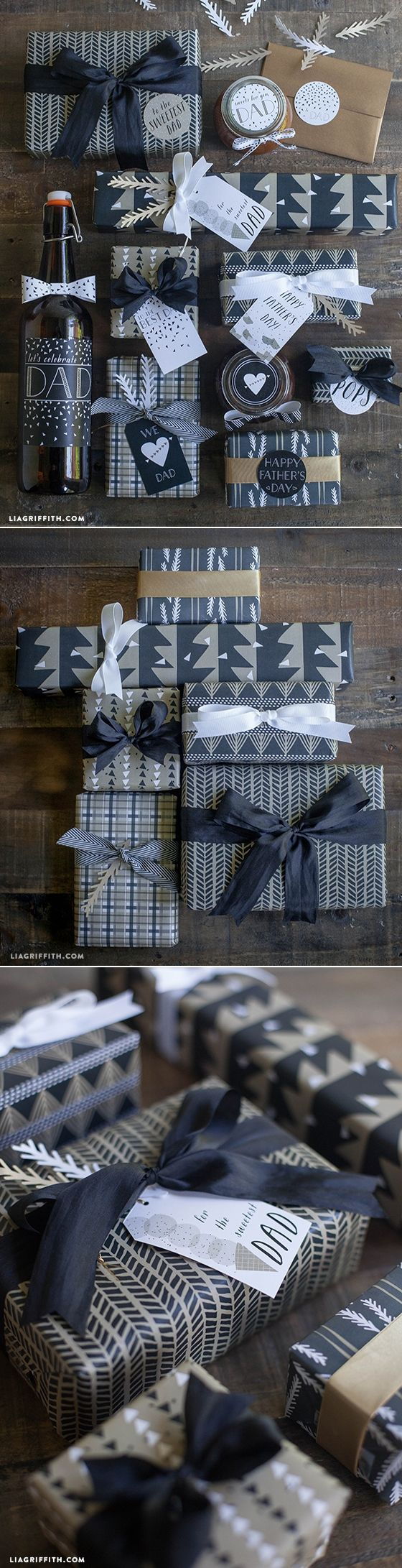 #printable #giftwrap #FathersDay www.LiaGriffith.com