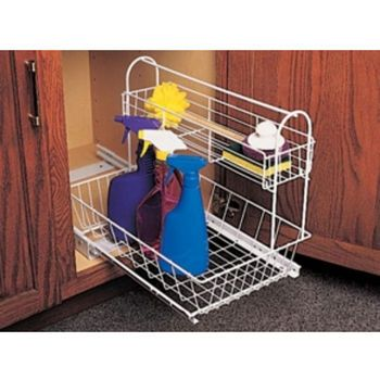Under Sink Cabinet Organizers - Under Sink Storage & Pull-Out Shelves in Chrome and Metal Wire at Cabinet Accessories Unlimited