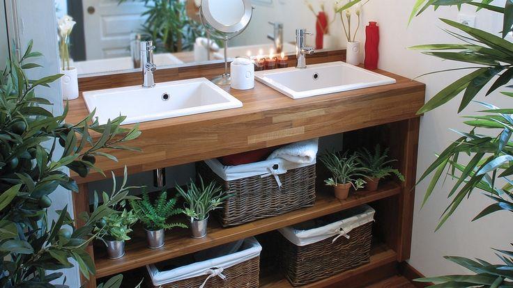 Salle de bains végétale