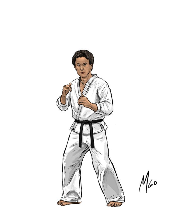 The Karate Kid Characters Page 02 Illustrated By Marten Go Karate Kid Kid Character Cartoon Styles