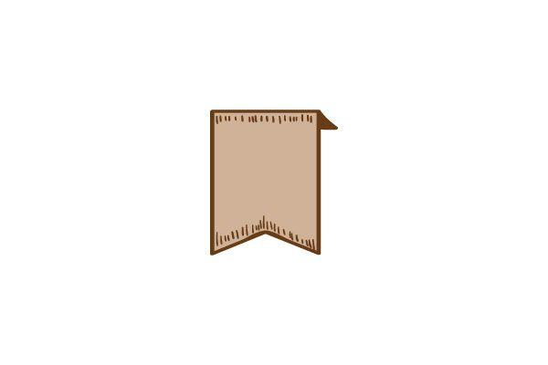Short Angled Ribbon Vector Image #ribbons #vectorpack #handdrawnvector http://www.vectorvice.com/ribbons-vector-pack