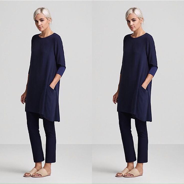Maybe this Eileen Fisher sleek look will be my new spring uniform?