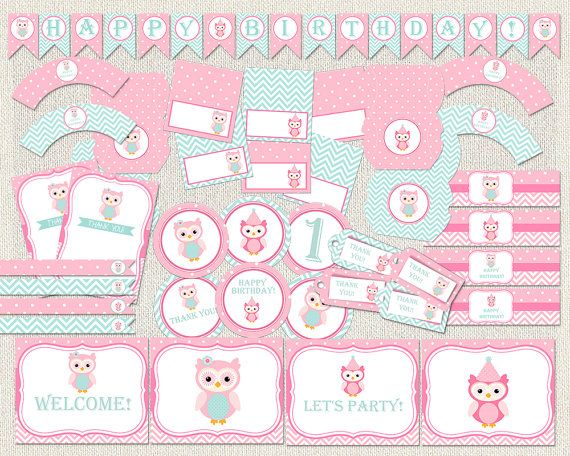 Printable Birthday Party Decorations by PixiePerfectParties