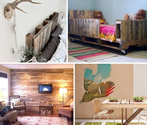 Incredible DIY ideas for pallets. I love the toddler bed