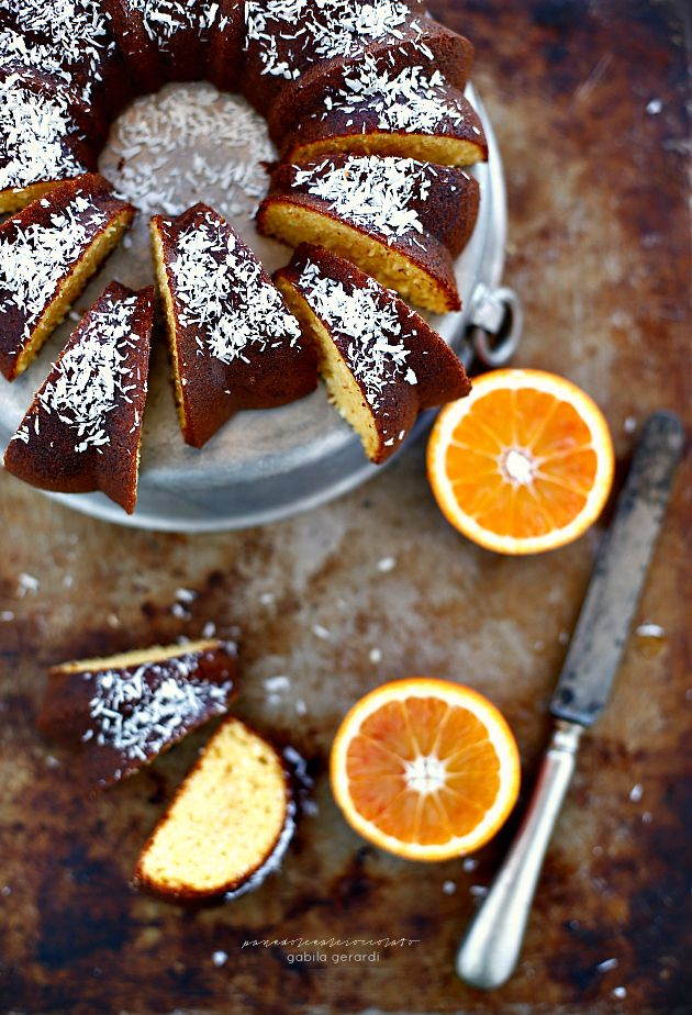 ... orange cake (gluten-free butter-free oil-free milk-free) ...