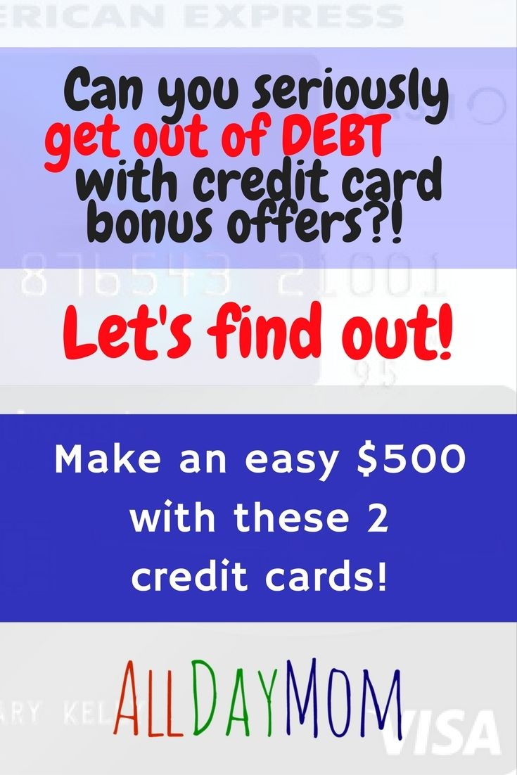 Get Out of Debt with Credit Card Bonus Offers! If you can be disciplined enough to only do your regular spending with these two credit cards and pay them off in full every month, YES! You'll earn a minimum of $541 net cash back after the annual fees! Amex Blue Cash Preferred $250 and Southwest Visa 40,000 points!