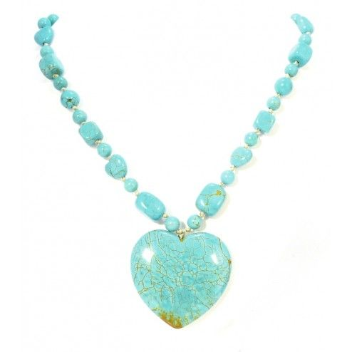 Lola Rose Beatrix Natural Blue Howlite Necklace at aquaruby.com