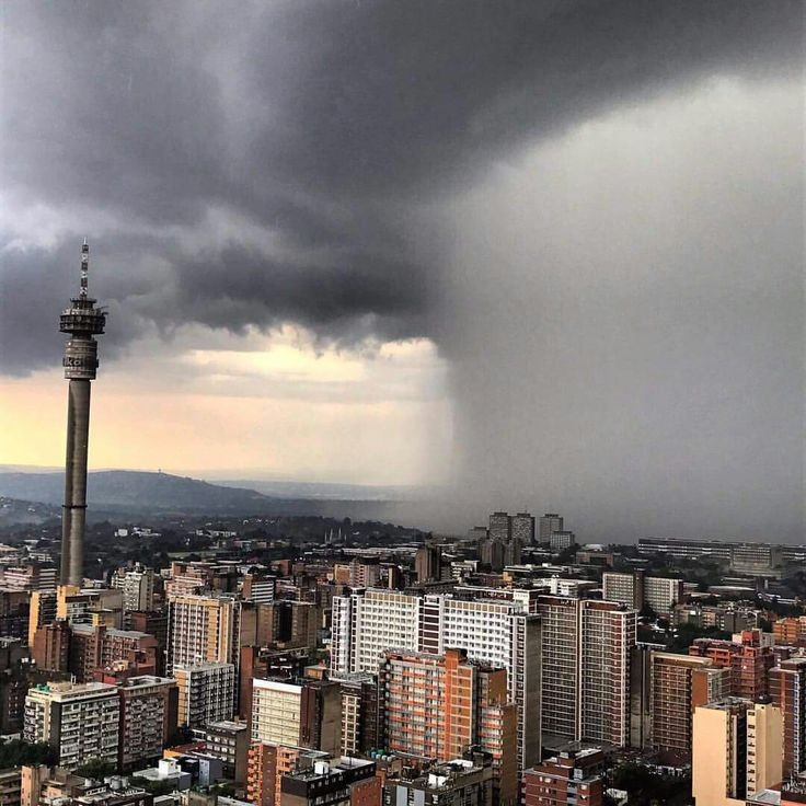 One of Joburg's insane storms captured on camera from @dlalanje's space on the 51st floor of #Ponte. : @nickolausbauer