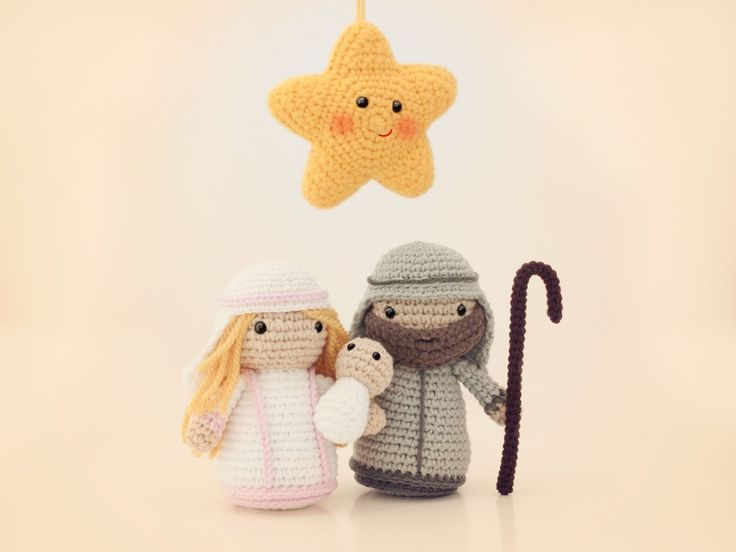 Amigurumi estrella y nacimiento (patron gratuito)