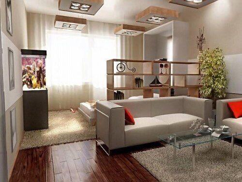 стеллаж в жилой комнате