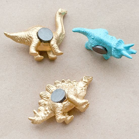 DIY Dino Magnets. Rawr! | Yellow Brick Home