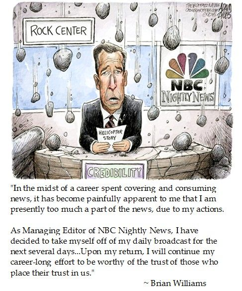 Brian Williams on Trust. Does this ass clown think will drift away like some liberal magic fairy fart?